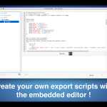 Create your own export script !